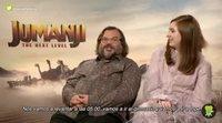 Jack Black y Karen Gillan nos cuentan que videojuego quieren adaptar al estilo de 'Jumanji'