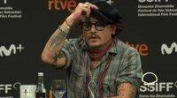 Rueda de prensa de Johnny Depp en el Festival de San Sebastián 2021