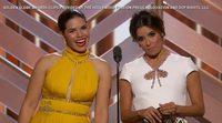 Globos de Oro 2016: Presentación de America Ferrera y Eva Longoria