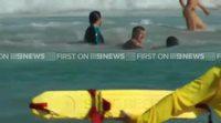 Hugh Jackman salva a sus hijos de unas fuertes corrientes en Australia
